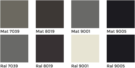 Horisontaalsed rull-ekraanid - värvivalik